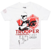 Star Wars Boys' Die letzten Jedi (The Last Jedi) Trooper Commander T-Shirt - Weiß