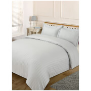 Brentfords Satin Stripe Duvet Set - Silver