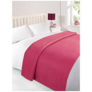 Dreamscene Soft Fleece Throw (120 x 150cm) - Fuchsia