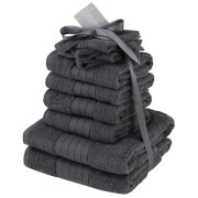 Highams 100% Cotton 10 Piece Towel Bale (500GSM) - Charcoal