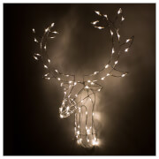 Christmas Workshop LED Stag Head Wall Decoration 60cm - Bright White