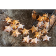 Sirius Bolette Gold and Silver 20 LED Star String Lights - 2.85m + 3m