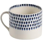 Nkuku Indigo Drop Mug - Cream and Indigo