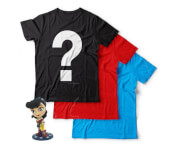 3-pack Mystery Geek T-shirts + Gratis Wonder Woman Figuur