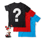 Epic Mystery Geek T-Shirts 3 Pack + Free Harley Quinn Figurine