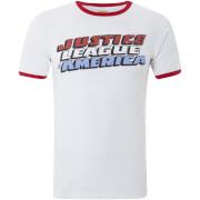 DC Comics Justice League Logo Ringer Männer T-Shirt - Weiß