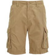 Brave Soul Men's Riverwood Cargo Shorts - Stone