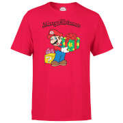 Nintendo® Super Mario Merry Christmas T-Shirt - Rot