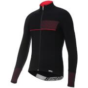 Santini Vega 2.0 Aquazero Long Sleeve Jersey - Black/Red