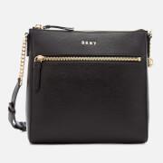 DKNY Women's Bryant Top Zip Cross Body Bag - Black