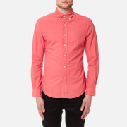 Polo Ralph Lauren Men's Slim Fit Garment Dye Shirt - Salmon Heather