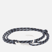 Miansai Men's Rope Bracelet with Silver Hook - Indigo