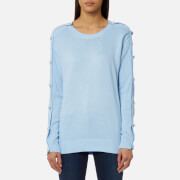 MICHAEL MICHAEL KORS Women's Gem Button Sweatshirt - Cloud
