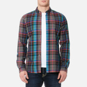 PS by Paul Smith Men's Tailored Fit Checked Long Sleeve Shirt - Multi