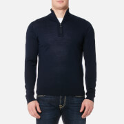 PS by Paul Smith Men's Zip Neck Knitted Jumper - Navy
