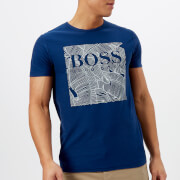 BOSS Orange Men's Tarit Printed T-Shirt - Blue
