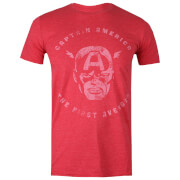 Marvel Men's Avengers First T-Shirt - Heather Red