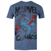 Marvel Men's Spider-Man Webslinger T-Shirt - Indigo