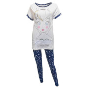 Disney Women's Tinkerbell Pyjamas - White