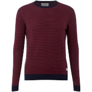 Jack & Jones Originals Men's Nash Striped Jumper - Cordovan