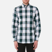 Vivienne Westwood MAN Men's Butcher Stripe 2 Button Gingham Krall Shirt - White/Green