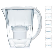 Aqua Optima 2.8L White Oria Water Filter Jug with 6 x 60 Day Evolve Filter Cartridges (12 Month Bundle)