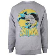 DC Comics Women's Batman Retro Sweatshirt - Heather Grey