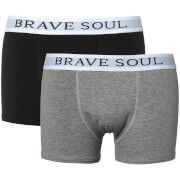 Brave Soul Men's Ali 2-Pack Boxers - Black/Grey