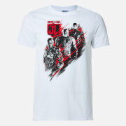 DC Comics Men's Justice League Distortion T-Shirt - White