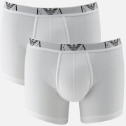 Emporio Armani Men's 2 Pack Cotton Stretch Boxer Shorts - Bianco