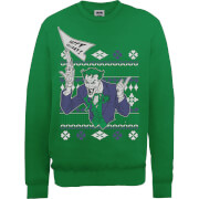 Sweat Homme/Femme Le Joker Happy Holiday - DC Comics - Vert