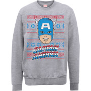 Sweat Homme Captain America - Marvel Comics - Noir