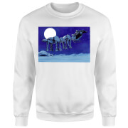 Star Wars Darth Vader AT-AT Christmas Sleigh White Christmas Sweatshirt