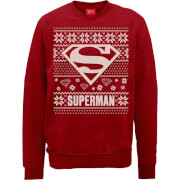 Sweat Homme/Femme Logo Superman - DC Comics Rouge