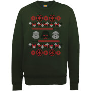 Sweat Homme/Femme Empire Noël - Star Wars - Vert