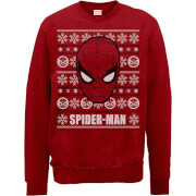 Sweat Homme/Femme Visage The Amazing Spiderman - Rouge