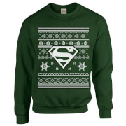 DC Comics Originals Superman Knit Green Christmas Sweatshirt