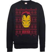 Sweat Homme L'invincible Iron Man Noël - Marvel Comics - Noir