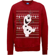 Sweat Homme Olaf qui Danse - La Reine des neiges - Disney - Rouge