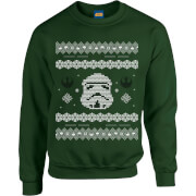 Star Wars Christmas Stormtrooper Knit Green Christmas Sweatshirt