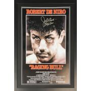 Jake La Motta Signed Raging Bull 40 x 30 Poster