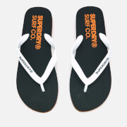 Superdry Men's Superdry Sleek Flip Flops - Black/Optic White