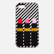 Lulu Guinness Women's Lipstick iPhone 6/7 Case - White/Black