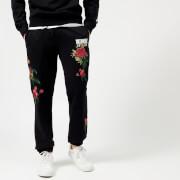Billionaire Boys Club Men's Embroidered Floral Sweatpants - Black