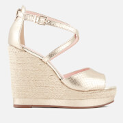 Dune Women's Kandis Leather Wedged Sandals - Gold