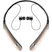 LG Tone Pro Neckband Sports Bluetooth Earphones with Built-In Mic - Gold