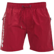 Short de Bain Kavana Crosshatch - Rouge