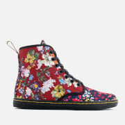 Dr. Martens Women's Shoreditch FC Floral Mix Canvas Lace Low Boots - Multi