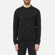 Versace Collection Men's Mesh Detail Sweatshirt - Nero
