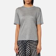 Diane von Furstenberg Women's Back Ruffle T-Shirt - Grey Melange
